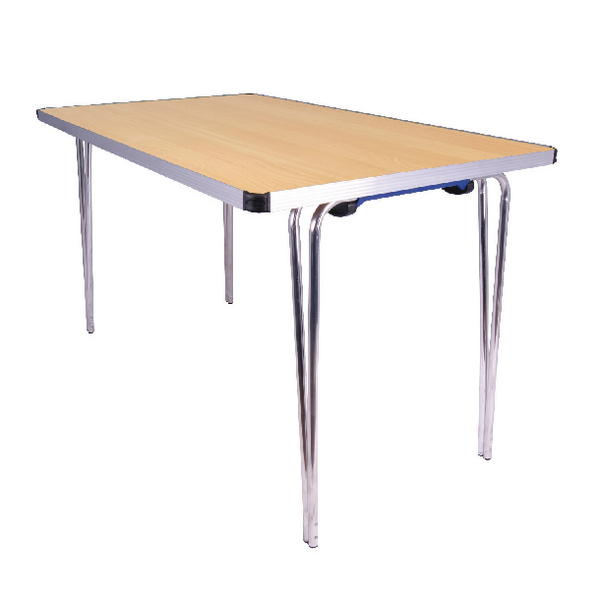 Folding Jemini Japanese Beech W1220xD685xH698mm Rectangular  Aluminium Folding Table KF74027
