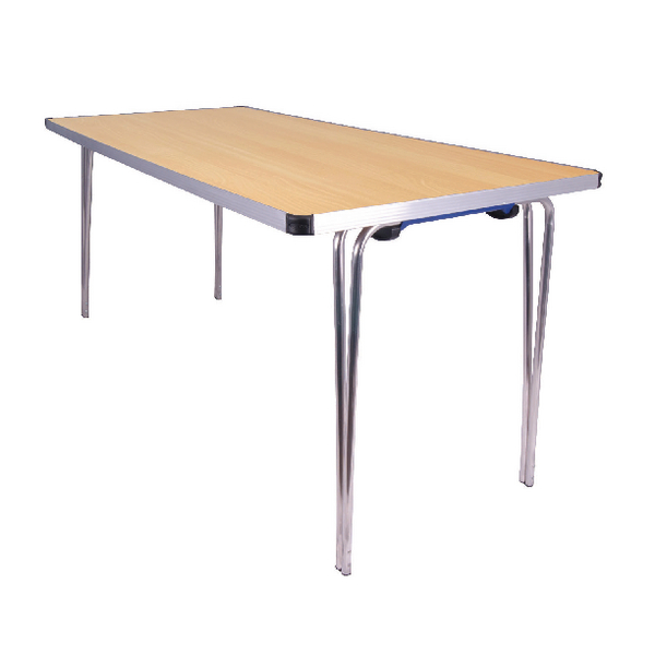 Folding Jemini Japanese Beech W1520xD685xH698mm Rectangular Aluminium Folding Table KF74028