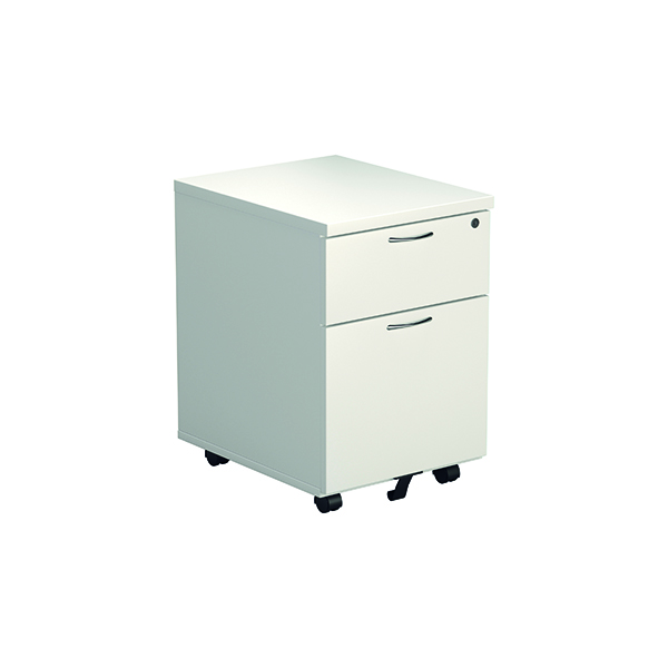 Unspecified Jemini White 2 Drawer Mobile Pedestal KF74147