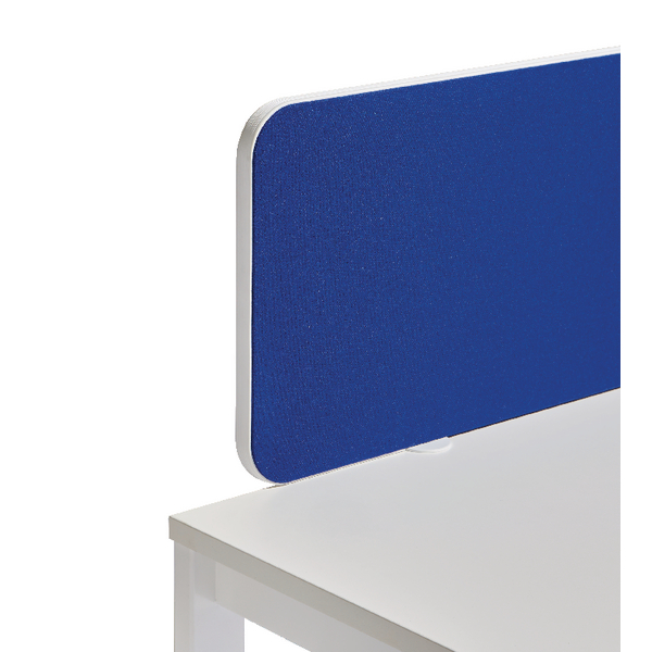 Jemini White Trim Blue 1600mm Straight Rounded Corner Screen KF74262