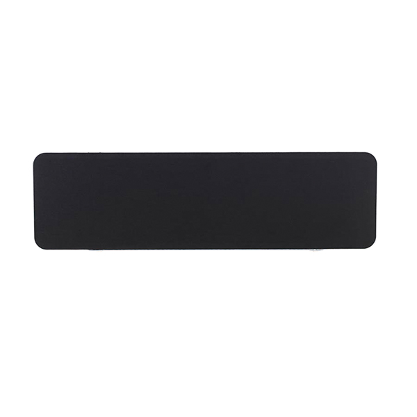 Jemini White Trim Black 1200mm Straight Rounded Corner Screen KF74264