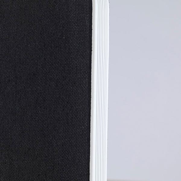 Jemini White Trim 800mm Black Straight Rounded Corner Desktop Return Screen KF74269