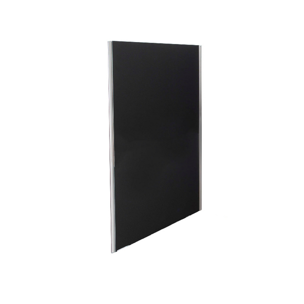 Straight Tops Jemini Black 1800x800 Floor Standing Screen Including Feet KF74335
