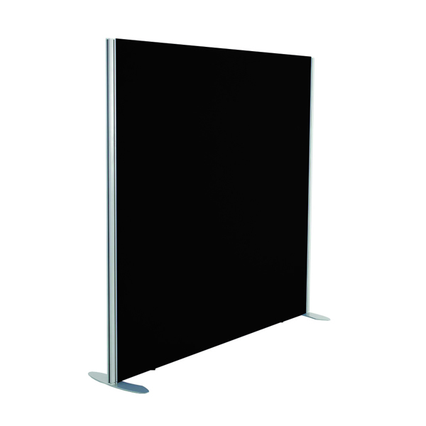 Straight Tops Jemini Black 1800x1200 Floor Standing Screen Including Feet KF74337