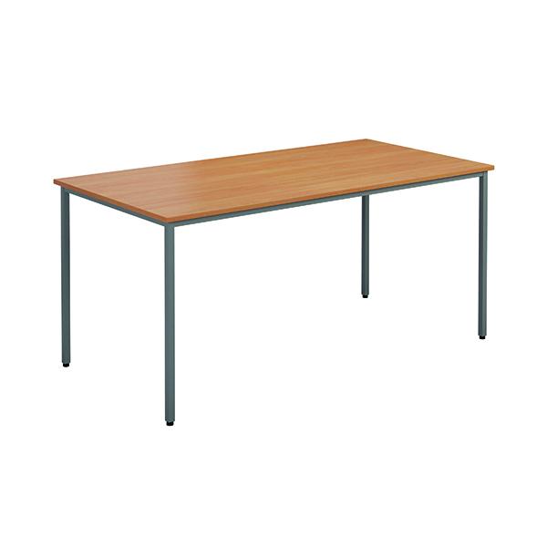Rectangular Jemini Rectangular Desk 1200 x 800mm  Beech OMPT1280RECBE2