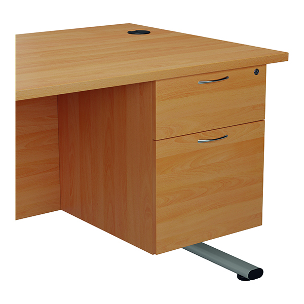 Two Drawer Jemini 655 Fixed Pedestal 2 Drawer Beech KF74411