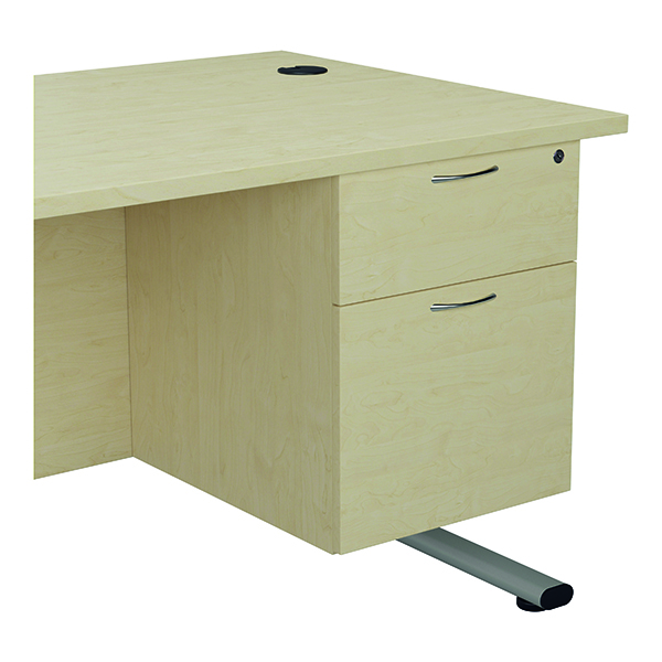 Two Drawer Jemini 655 Fixed Pedestal 2 Drawer Maple KF74414