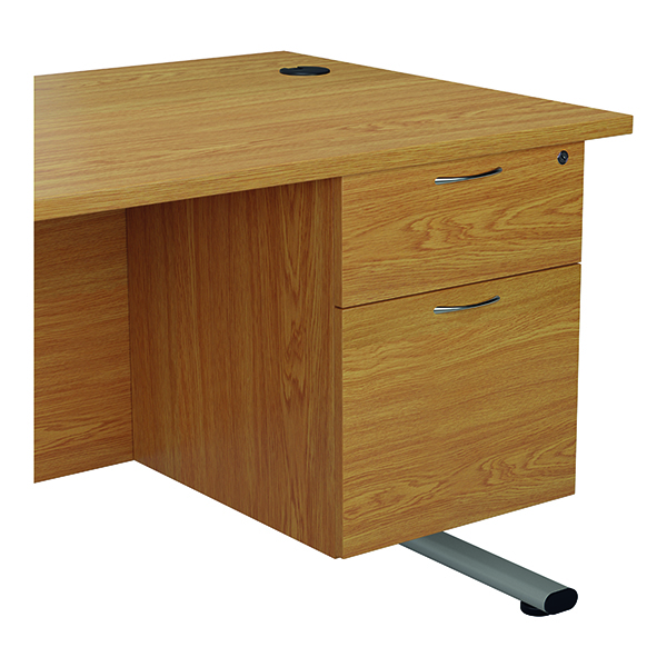 Two Drawer Jemini 655 Fixed Pedestal 2 Drawer Nova Oak KF74415
