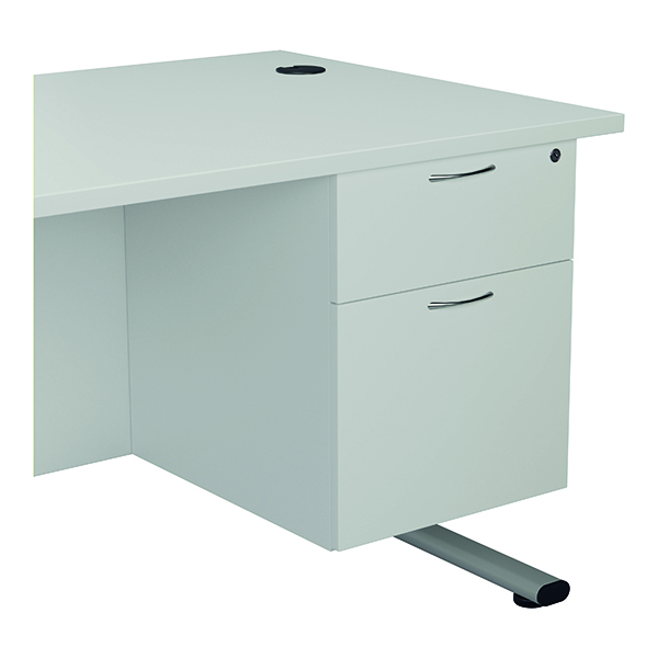 Two Drawer Jemini 655 Fixed Pedestal 2 Drawer White KF74416