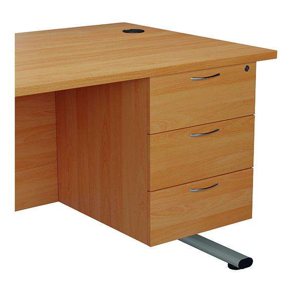 Three Drawer Jemini 655 Fixed Pedestal 3 Drawer Beech KF74417