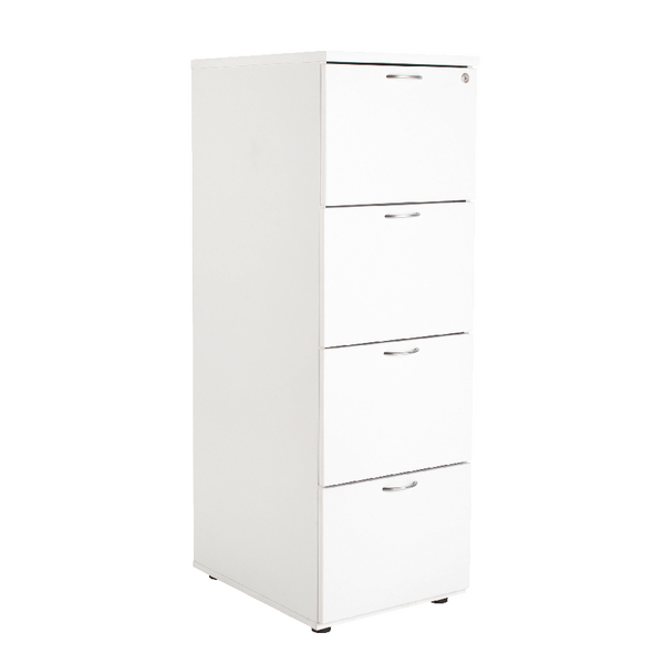 Four Drawer First Filing Cabinet 4 Drawer White KF74834