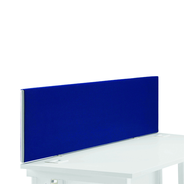Desk First Desk Mounted Screen H400 x W1400 Special Blue KF74838