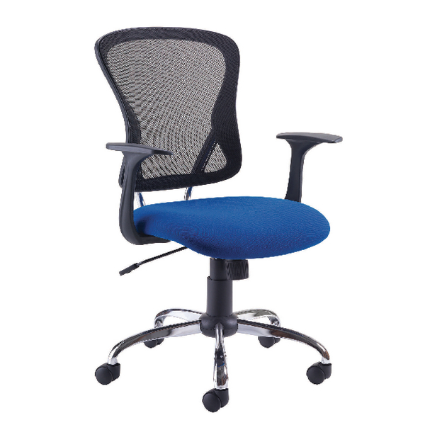 Unspecified First Contemporary Mesh Chair Blue Black KF74845