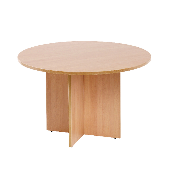 Unspecified First Round Meeting Table Beech KF74906