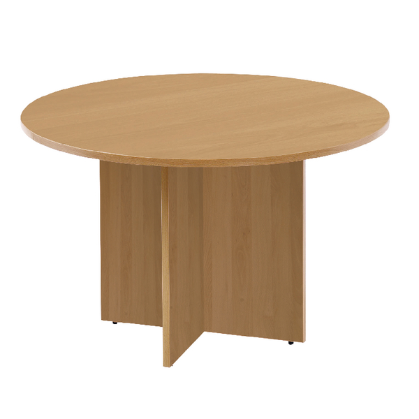 Unspecified First Round Meeting Table Oak KF74907