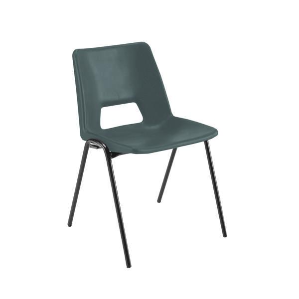 Jemini Polypropylene Stacking Chair Black KF74957