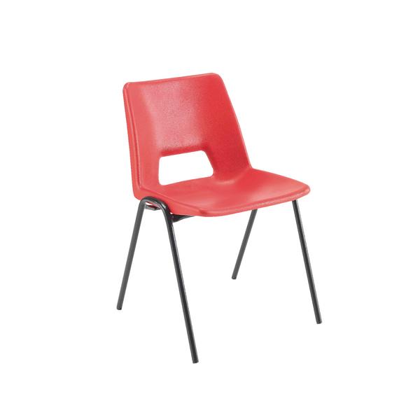 Seating Jemini Polypropylene Stacking Chair 430mm Red KF74979