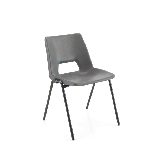 Seating Jemini Polypropylene Stacking Chair 260mm Charcoal KF74990