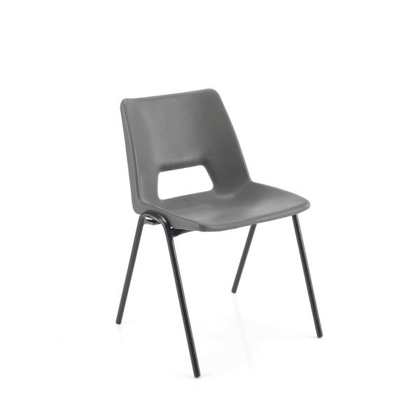 Seating Jemini Polypropylene Stacking Chair 430mm Charcoal KF74994