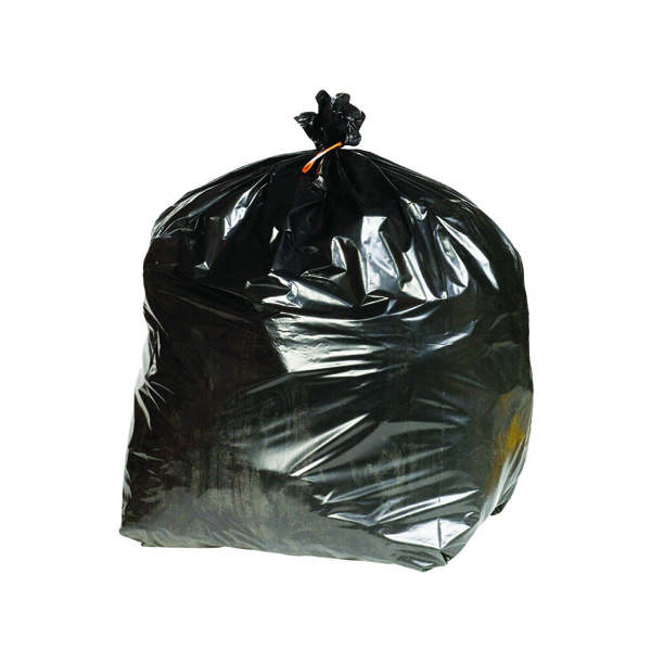 Binliner/Bags 2Work Extra Heavy Duty Refuse Sack Black (200 Pack) KF76961