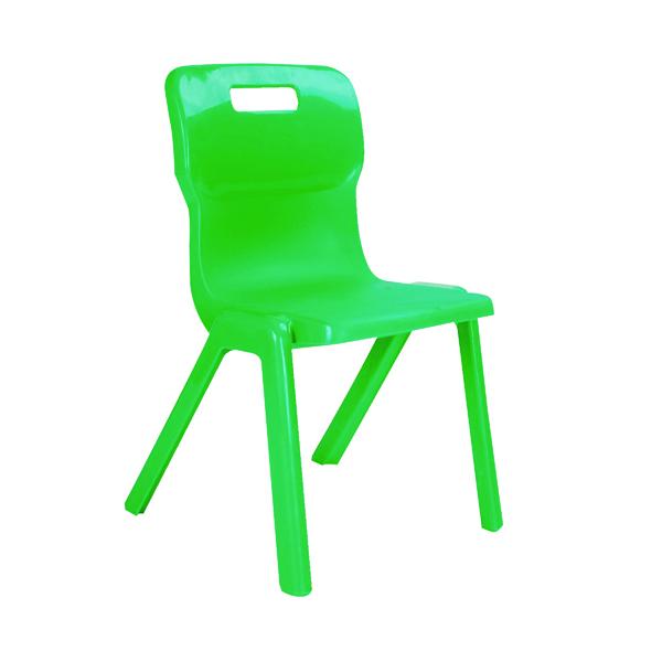 Seating Titan One Piece Chair 260mm Green KF78504