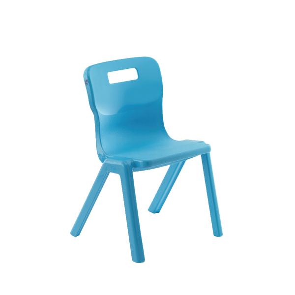 Seating Titan One Piece School Chair Size 1 Sky Blue KF78509