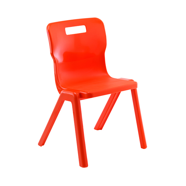 Seating Titan One Piece Chair 350mm Orange KF78515