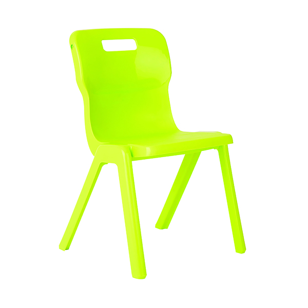 Seating Titan One Piece Chair 350mm Lime KF78516