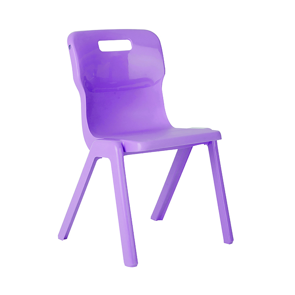 Seating Titan One Piece Chair 380mm Purple KF78518