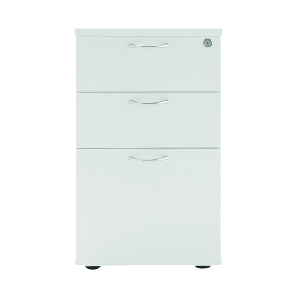Three Drawer Jemini White 3 Drawer Under-Desk Pedestal KF78664