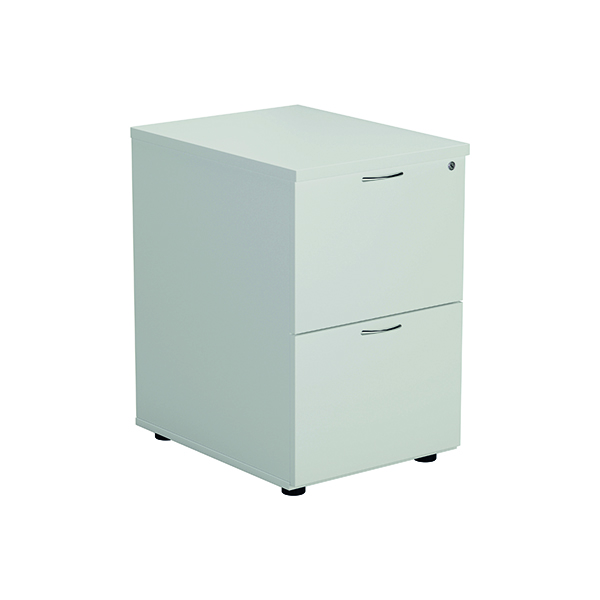 Two-Drawer Jemini White 2 Drawer Filing Cabinet KF78666