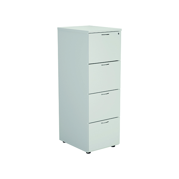 Jemini White 4 Drawer Filing Cabinet KF78667