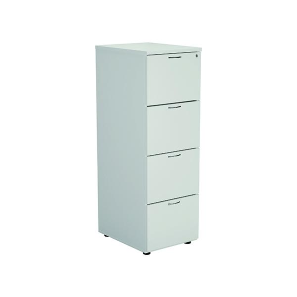 Three-Drawer Jemini White 4 Drawer Filing Cabinet KF78667