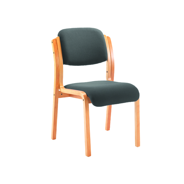 Unspecified Jemini Charcoal Wood Frame Side Chair KF78680