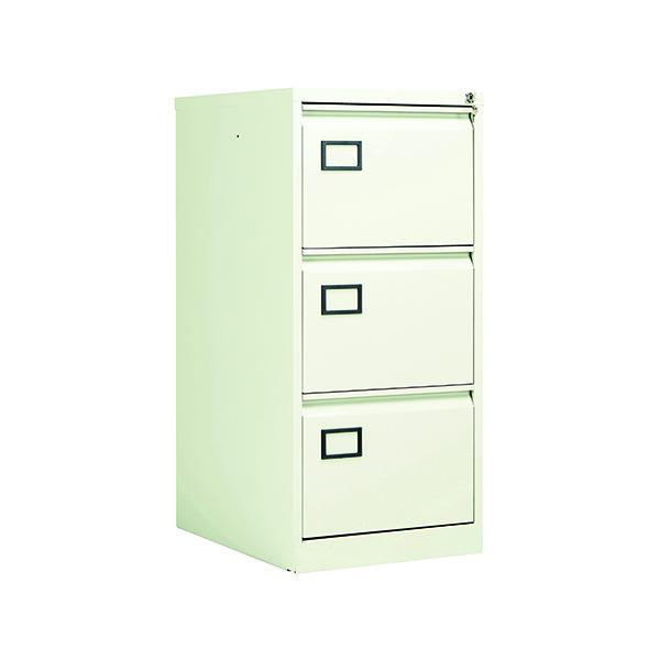 Wood Jemini 3 Drawer Filing Cabinet White KF78707