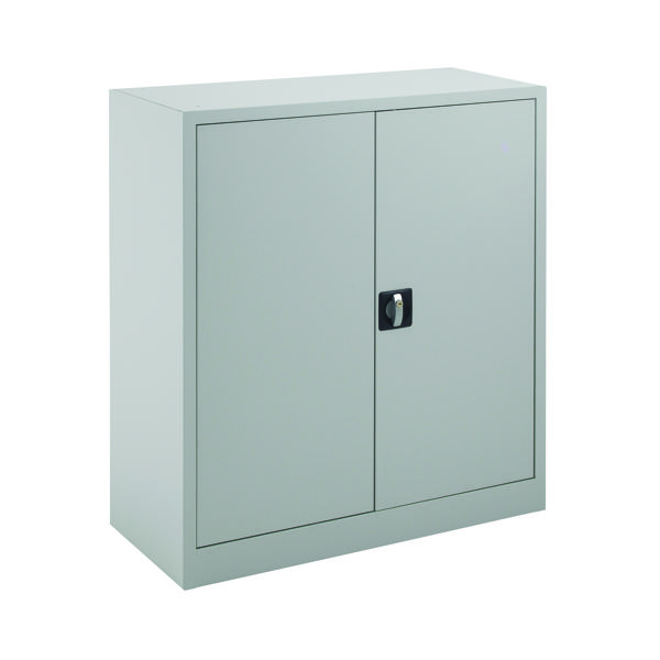 Cupboards H up to 1200mm Talos Double Door Stationery Cupboard 1000 Grey KF78752