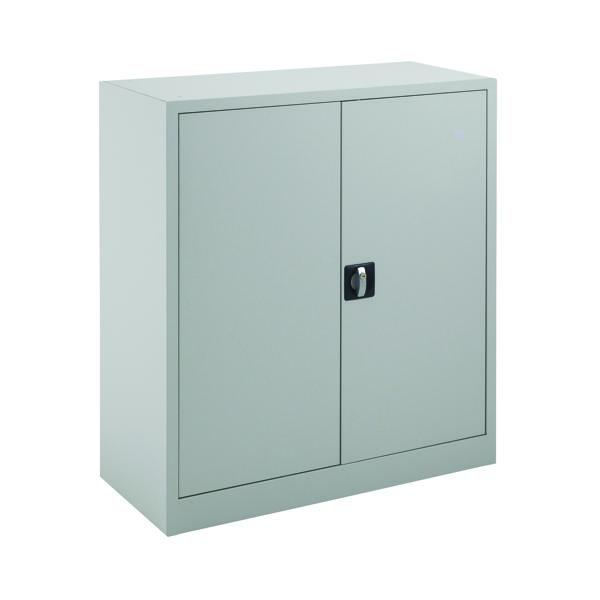 Talos Double Door Stationery Cupboard 1000 Grey KF78752