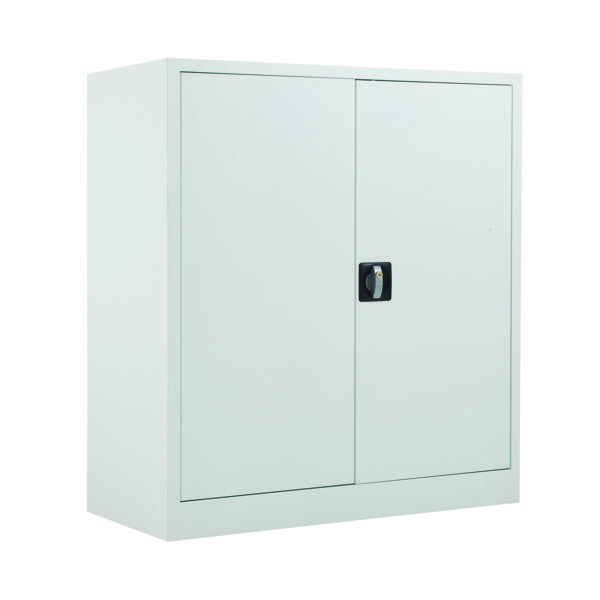 Cupboards H up to 1200mm Talos Double Door Stationery Cupboard 1000 White KF78753