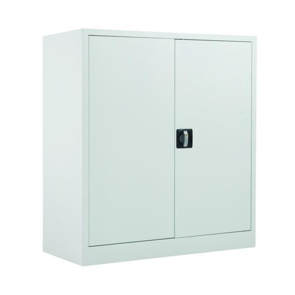 Talos Double Door Stationery Cupboard 1000 White KF78753