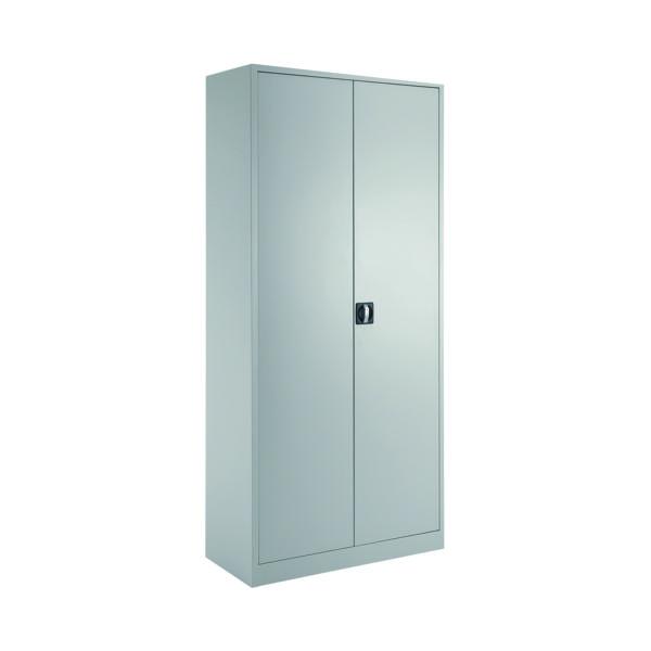 Talos Double Door Stationery Cupboard 1950 Grey KF78756