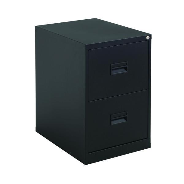 Talos 2 Drawer Filing Cabinet Black KF78762
