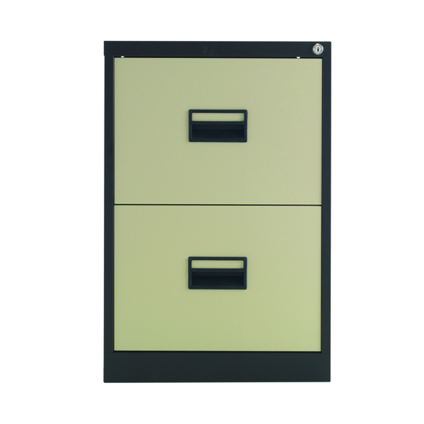 Two-Drawer Talos 2 Drawer Filing Cabinet Coffee Cream KF78763