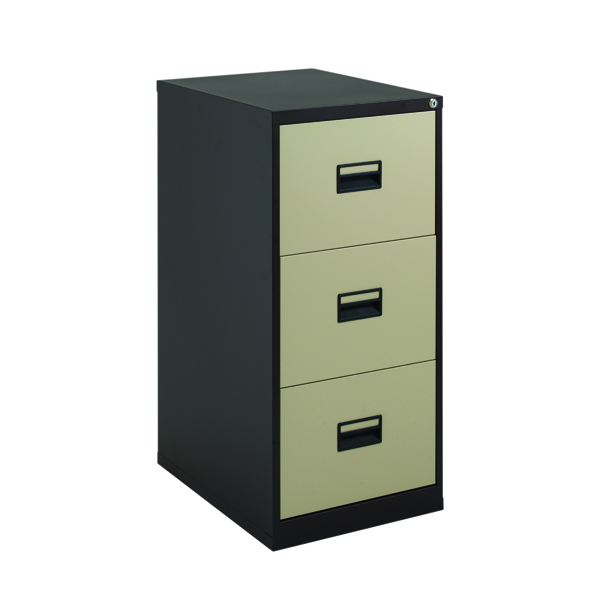 Wood Talos 3 Drawer Filing Cabinet Coffee Cream KF78767