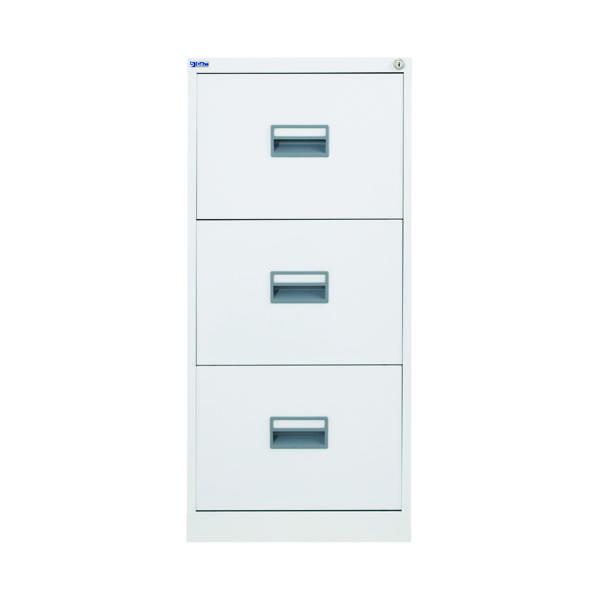 Wood Talos 3 Drawer Filing Cabinet White KF78769
