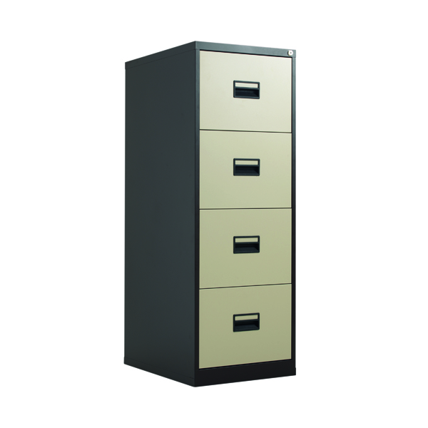 Four Drawer Talos 4 Drawer Filing Cabinet Coffee Cream KF78771