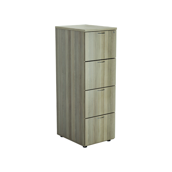 Four Drawer Jemini Grey Oak 4 Drawer Filing Cabinet KF78955