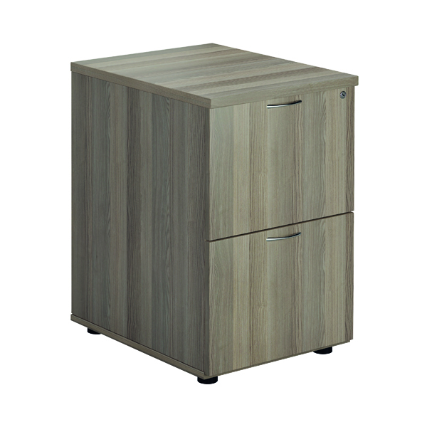 Two-Drawer Jemini Grey Oak 2 Drawer Filing Cabinet KF78957