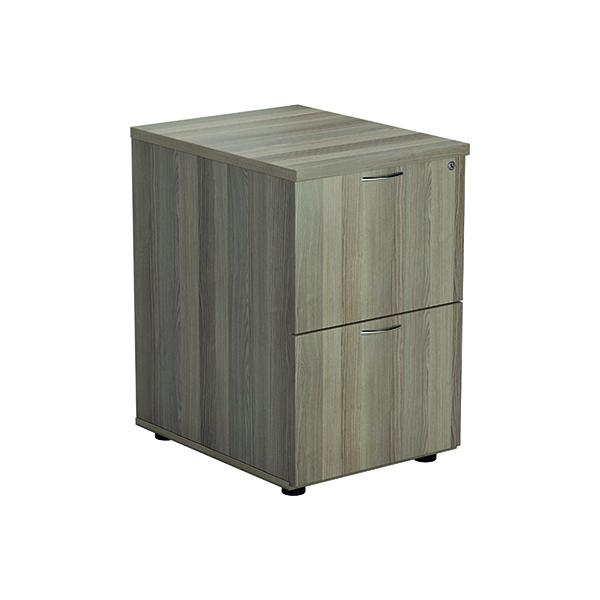 Jemini Grey Oak 2 Drawer Filing Cabinet KF78957