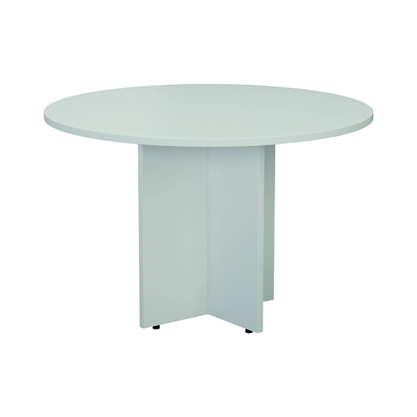 Office Jemini White Round D1200 Meeting Table KF78958