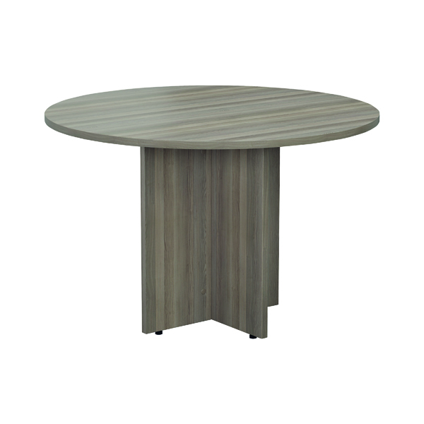 Office Jemini Walnut Round D1200 Meeting Table KF78959